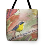 Watercolor - Common Yellowthroat Tote Bag