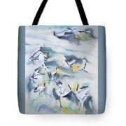 Watercolor - Crane Ballet Tote Bag