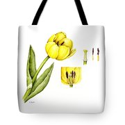 Watercolor Flower Yellow Tulip Tote Bag