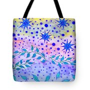 Watercolor Flowers And Leaves Tote Bag