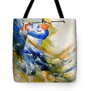 Watercolor  Golf Player Tote Bag