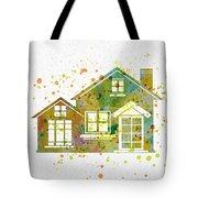 Watercolor Houses Tote Bag