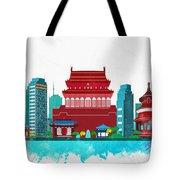 Watercolor Illustration Of Beijing Tote Bag