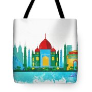 Watercolor Illustration Of Delhi Tote Bag