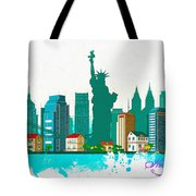 Watercolor Illustration Of New York Tote Bag