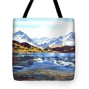 Watercolor Lake Reflection Tote Bag