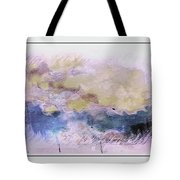 Watercolor Landscape Tote Bag