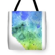 Watercolor Map Of Alberta, Canada In Blue And Green  Tote Bag
