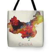 Watercolor Map Of China Tote Bag