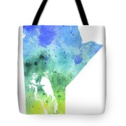 Watercolor Map Of Manitoba, Canada In Blue And Green  Tote Bag