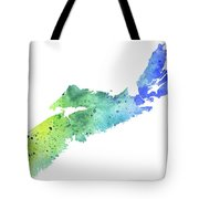 Watercolor Map Of Nova Scotia, Canada In Blue And Green  Tote Bag