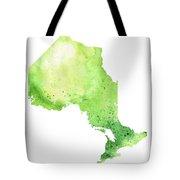 Watercolor Map Of Ontario, Canada In Green  Tote Bag
