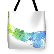Watercolor Map Of Prince Edward Island, Canada In Blue And Green  Tote Bag