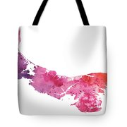 Watercolor Map Of Prince Edward Island, Canada In Orange, Red And Purple Tote Bag