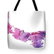 Watercolor Map Of Prince Edward Island, Canada In Pink And Purple  Tote Bag