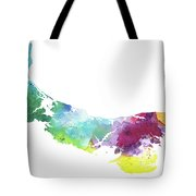 Watercolor Map Of Prince Edward Island, Canada In Rainbow Colors  Tote Bag