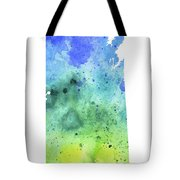 Watercolor Map Of Saskatchewan, Canada In Blue And Green  Tote Bag