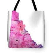 Watercolor Map Of Yukon, Canada In Pink And Purple  Tote Bag