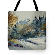 Watercolor Medieval Castle Of Veves  Tote Bag
