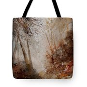 Watercolor Misty Path Tote Bag