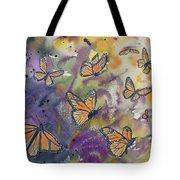 Watercolor- Monarchs In Flight Tote Bag