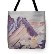 Watercolor - Near The Top Of Mount Sneffels Tote Bag