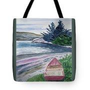 Watercolor - New Zealand Harbor Tote Bag