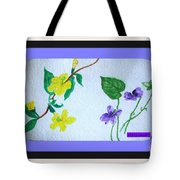 Watercolor Of Wild Flowers Tote Bag