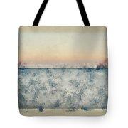 Watercolor Painting Of Beautiful Seascape Image Of Calm Ocean At Sunset Tote Bag