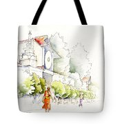 Watercolor Painting Of Monk Tote Bag