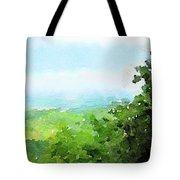Watercolor Painting Of The English Countryside Tote Bag