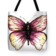 Watercolor Pink Butterfly Tote Bag