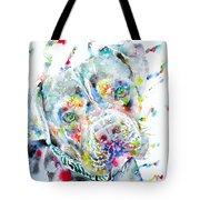 Watercolor Pit Bull.2 Tote Bag
