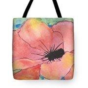 Watercolor Poppy Tote Bag