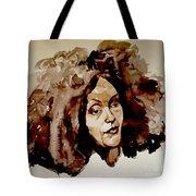 Watercolor Portrait Of A Woman With Bad Hair Day Tote Bag