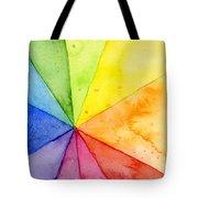 Watercolor Rainbow Beachball Pattern Tote Bag