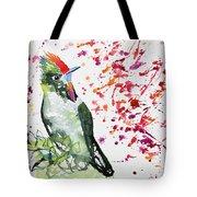 Watercolor - Rainbow Bearded Thornbill Tote Bag