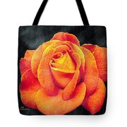 Watercolor Rose Tote Bag