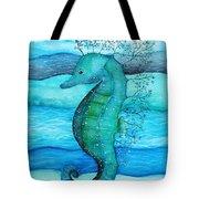 Watercolor Saehorse Tote Bag