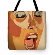 Watercolor Scream Tote Bag