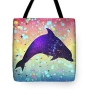 Watercolor Silhouette - Dolphin  Porpoise Tote Bag
