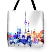 Watercolor Skyine Of Berlin, Germany Tote Bag
