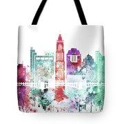 Watercolor Skyline Of Columbus, Ohio Tote Bag