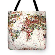 Watercolor Splashes World Map 2 Tote Bag