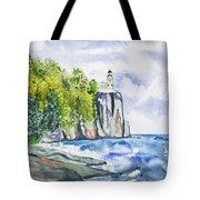 Watercolor - Split Rock Lighthouse Tote Bag