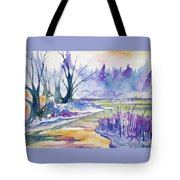Watercolor - Stream And Forest Tote Bag