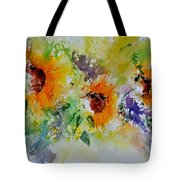 Watercolor Sunflowers Tote Bag