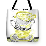 Watercolor Teacups-c Tote Bag