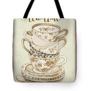 Watercolor Teacups-e Tote Bag