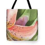 Watercolor Tiger Lily Dance Of Petals Close Up  Tote Bag
